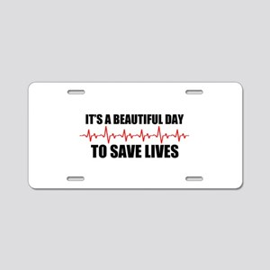 A beautiful day Aluminum License Plate