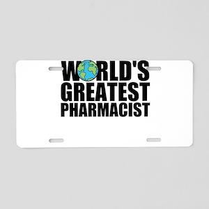 World's Greatest Pharmacist Aluminum License P