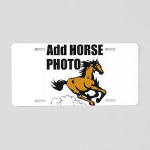 Add Horse Photo Aluminum License Plate