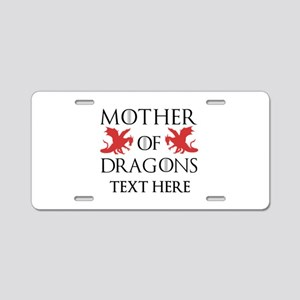 Mother of Dragons Personali Aluminum License Plate