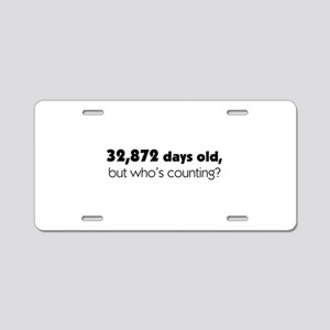 90th Birthday Aluminum License Plate