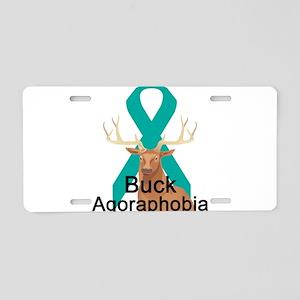 Agoraphobia Aluminum License Plate
