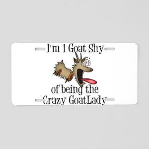 Crazy Goat Lady Aluminum License Plate