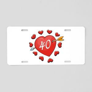 40th Valentine Aluminum License Plate