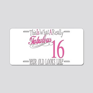 16th Birthday Gifts Aluminum License Plate