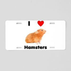 I love hamsters Aluminum License Plate