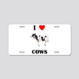 I love cows Aluminum License Plate