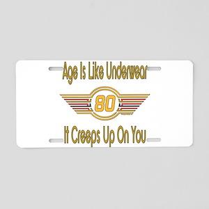 Funny 80th Birthday Aluminum License Plate
