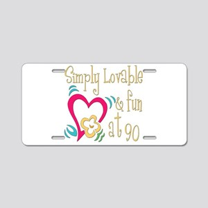 Lovable 90th Aluminum License Plate