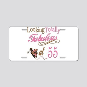 Fabulous 55th Aluminum License Plate