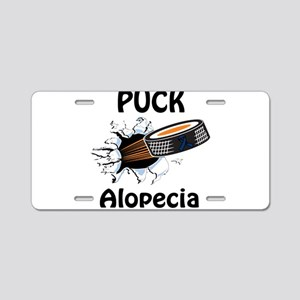 Puck Alopecia Aluminum License Plate