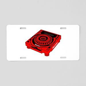 CDJ-1000 Swirl Aluminum License Plate