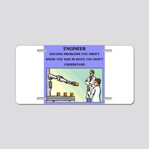 engineer engineering joke Aluminum License Plate