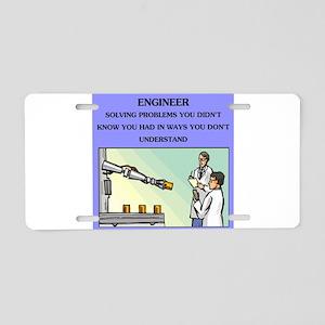 funny engineering joke Aluminum License Plate