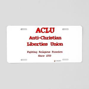 anti-christian Aluminum License Plate