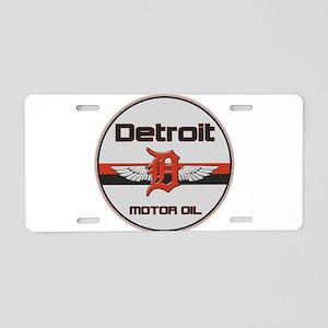 Detroit Motor Oil Aluminum License Plate
