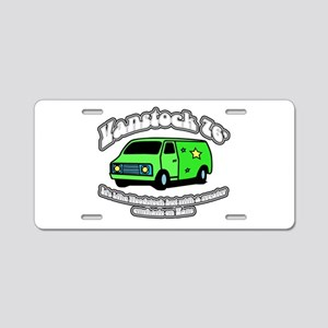 Vanstock 76 - White Text Aluminum License Plate