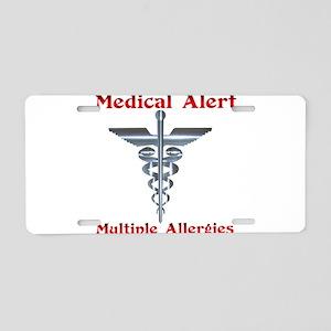 Medical Alert Multiple Drug A Aluminum License Pla