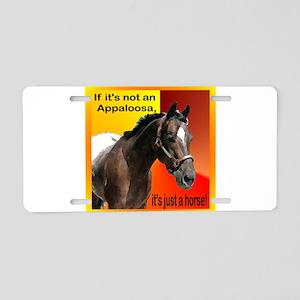 appaloosa just a horse-6 Aluminum License Plat