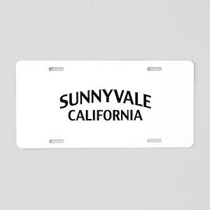 Sunnyvale California Aluminum License Plate