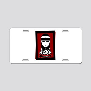 Goth Girl Aluminum License Plate