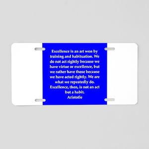 22 Aluminum License Plate