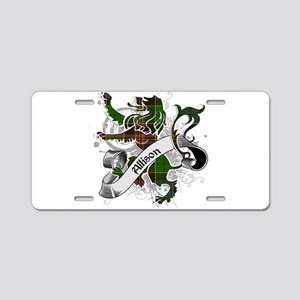 Allison Tartan Lion Aluminum License Plate
