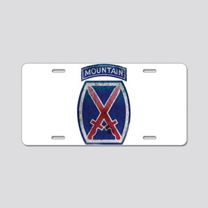10th Mountain Division - Clim Aluminum License Pla