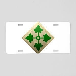 4th Infantry Division - Stead Aluminum License Pla