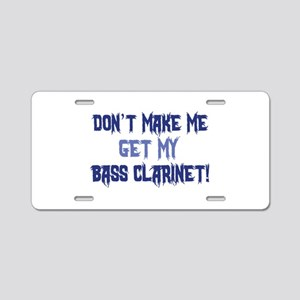 Bass Clarinet Aluminum License Plate