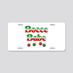 Bocce Babe Aluminum License Plate