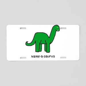 Name your own Brachiosaurus! Aluminum License Plat