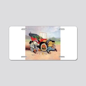 Roosevelt Bear Mechanic Aluminum License Plate