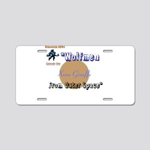 Wolfmen From Outer Space Aluminum License Plate