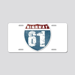 Highway 61 Aluminum License Plate