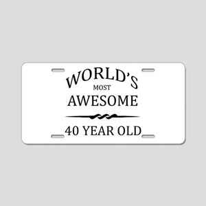 World's Most Awesome 40 Year Old Aluminum License