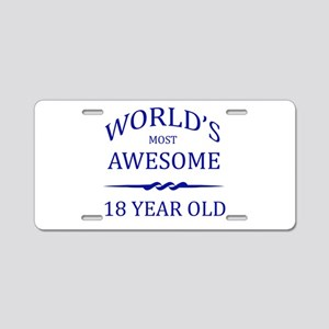 World's Most Awesome 18 Year Old Aluminum License