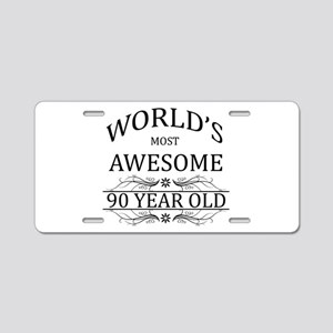 World's Most Awesome 90 Year Old Aluminum License
