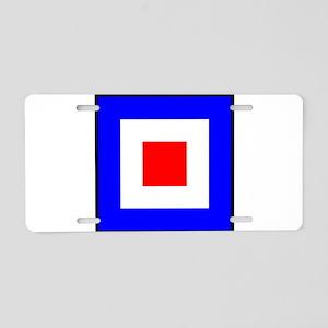 Nautical Flag Code Whiskey Aluminum License Plate