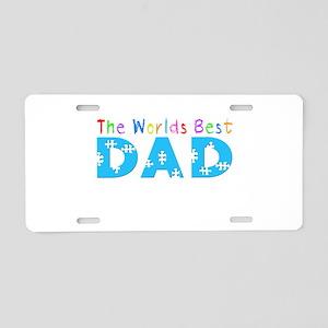 WorldsBestDad Aluminum License Plate