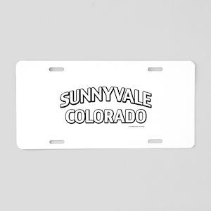 Sunnyvale Colorado Aluminum License Plate