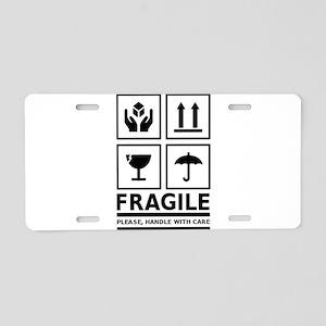 Fragile Please Handle With Care Aluminum License P