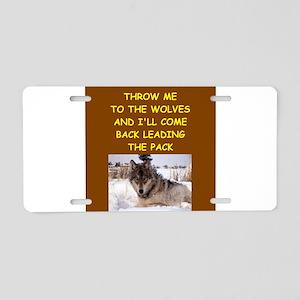 WOLF Aluminum License Plate