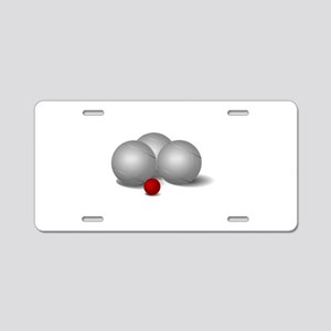 Bocce Ball Aluminum License Plate