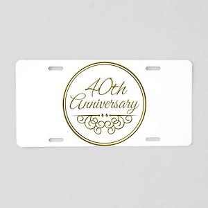 40th Anniversary Aluminum License Plate