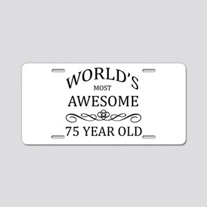 World's Most Awesome 75 Year Old Aluminum License