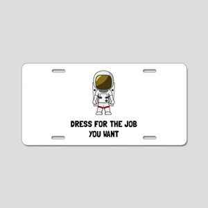Astronaut Dress Aluminum License Plate
