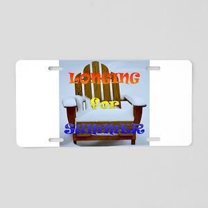 Longing for Summer Aluminum License Plate