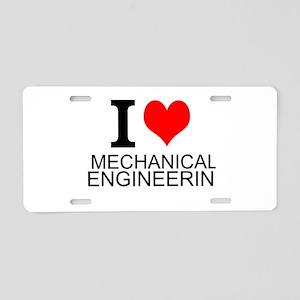 I Love Mechanical Engineering Aluminum License Pla