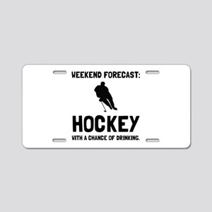 Weekend Forecast Hockey Aluminum License Plate